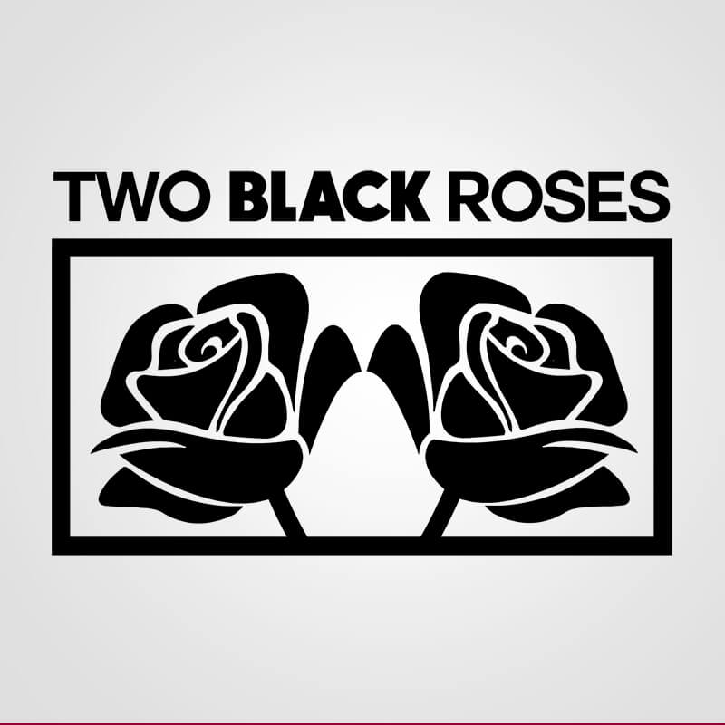 Two Black Roses. Diseño de Logocrea