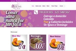 Tienda online diseñada para Las Delicias de Cris por Logocrea