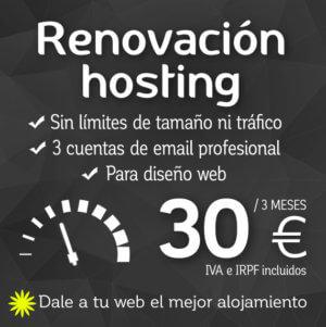 Renovación hosting Logocrea