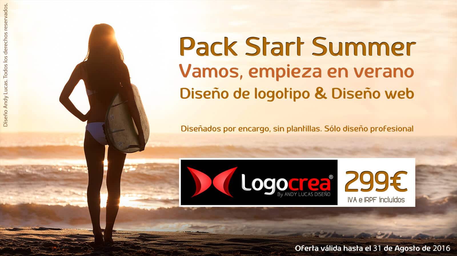 Diseño de logotipo y web por 299€ con StartSUMMER