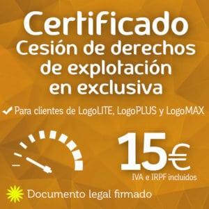 Certificado de cesión de derechos de explotación de logotipo Logocrea