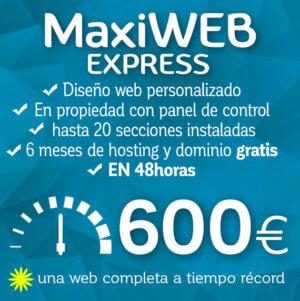 Diseño web MaxiWEB express Logocrea