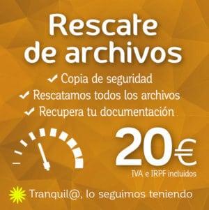 Copia de seguridad de archivos logocrea