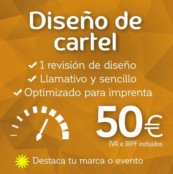 diseño de carteles 50€ | diseño de logotipos para empresas